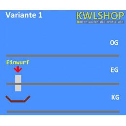 Edelstahl Wäscheabwurf Set, 1 Stock Einwurt von oben, DN 250