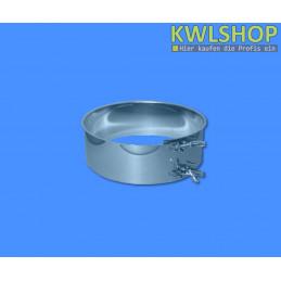 Auflagestück mit Klemmring, Edelstahl, DN 250mm, Wäscheabwurfsystem