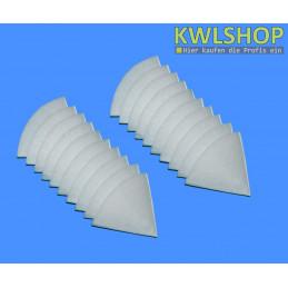 20 Kegelfilter G2, Iso Coarse 30%, DN 100mm, 180mm lang, weiß