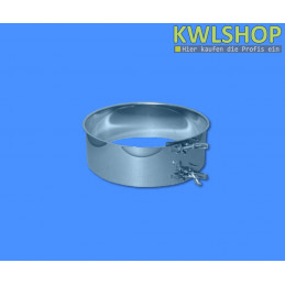 Edelstahl Auflagestück mit Klemmring, DN 250mm, Wäscheabwurfsystem