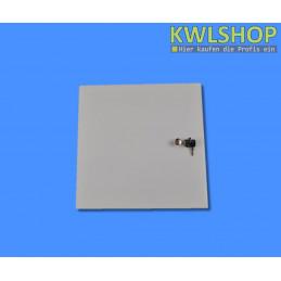 Edelstahltür Wäscheabwurf, weiß, pulverbeschichtet, DN 250