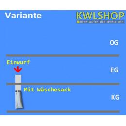 Edelstahl Wäscheabwurf Set, 1 Stock, Einwurf von oben, DN 250mm