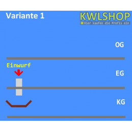 Edelstahl Wäscheabwurf Set, 1 Stock Einwurf von oben, DN 300
