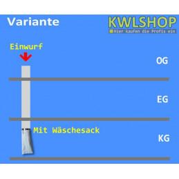 Edelstahl Wäscheabwurf Set, 2. Stock Einwurf von oben, DN 300mm