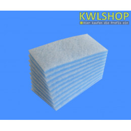 Filterrolle Blau Weiß 0,6 x 10m Filterklasse G4 ca. 17-20 mm stark
