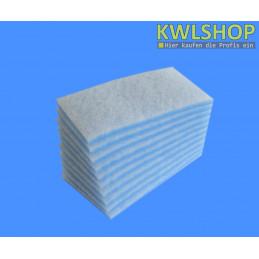 Filterrolle Blau Weiß 1 x 2m Filterklasse G4 ca. 17-20 mm stark
