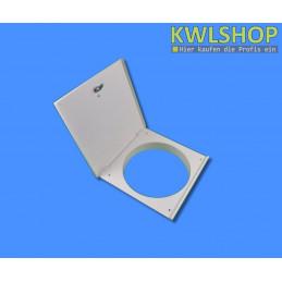 weiße Edelstahltür, Wäscheabwurfsystem, pulverbeschichtet, DN 250mm