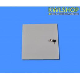 Edelstahl Tür für Wäscheabwurf, weiß, pulverbeschichtet, DN 300mm