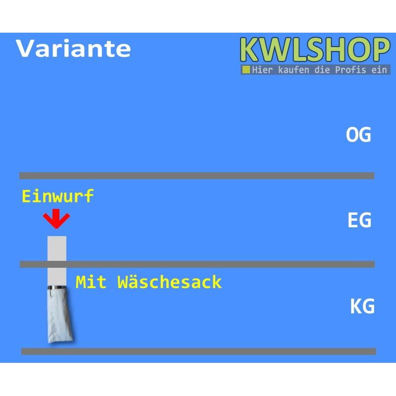 Edelstahl Wäscheabwurf Set, 1 Stock Einwurt von oben, DN 300mm