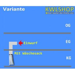 Edelstahl Wäscheabwurf Set, 1 Stock Einwurt seitlich, DN 300
