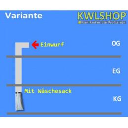 Edelstahl Wäscheabwurf Set, 2 Stock Einwurt seitlich, DN 300