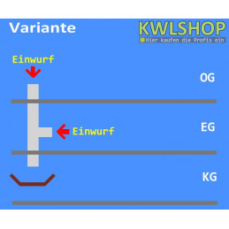 Edelstahl Wäscheabwurf Set, 2 Stock 1 x Einwurf seitlich 1 x Einwurf oben ohne Wäschesack, DN 300