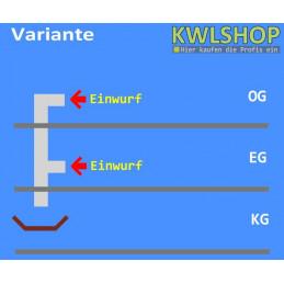 Edelstahl Wäscheabwurf Set, 2 Stock 2 x Einwurf seitlich Ohne Wäschesack, DN 300