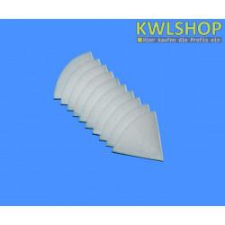 Kegelfilter G2, Iso Coarse 30%, DN 100mm, 180mm lang, weiß
