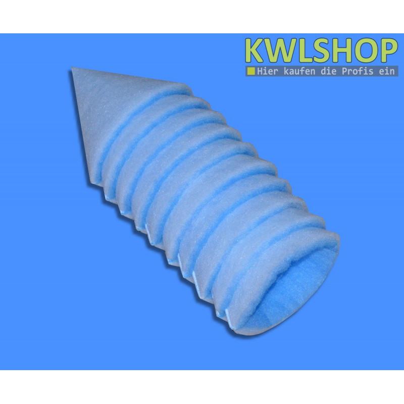 Kegelfilter blau weiß, G3, Iso Coarse 45%, DN 125mm, 180mm lang, 10-12mm stark