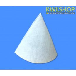 Kegelfilter G4 DN 150-160, 300mm lang, Stärke 17-20mm, mit Spannring, weiß