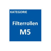 Luftfiltermatte  (Filterflies, Filterrolle) in der Filterklasse M5 / ISO ePM10 50%, in versch. Abmessungen.